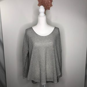 Anthro Sparkle & Fade | Oversized Waffle Knit Top
